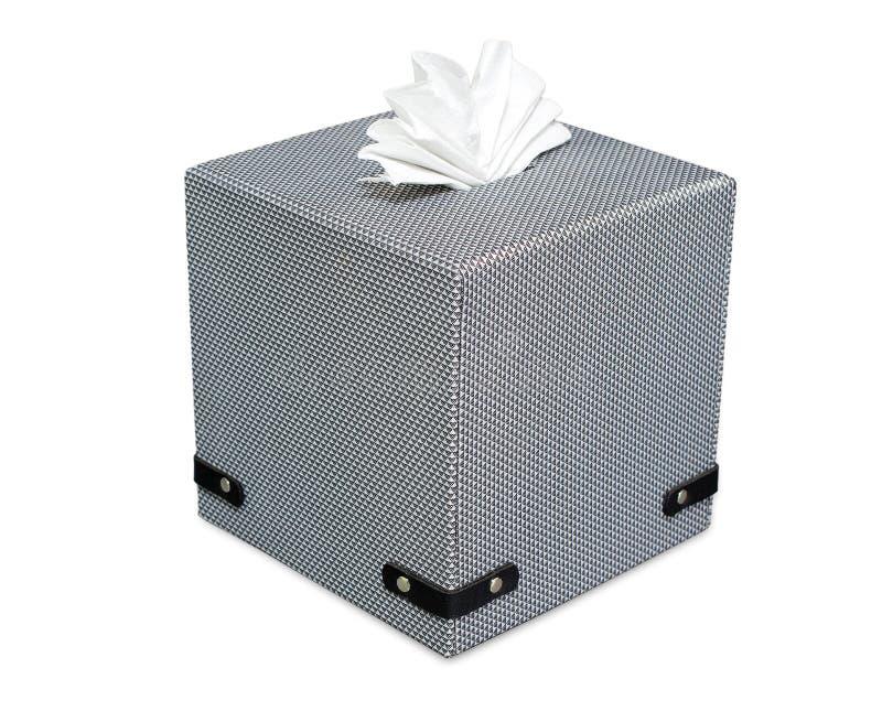 Современной изолят положенный в коробку тканью на белизне стоковое изображение rf
