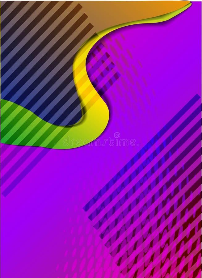 Современные абстрактные крышки Абстрактный состав форм Футуристический минимальный дизайн EPS10 бесплатная иллюстрация