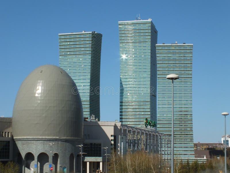 Современные башни дела в Астане стоковые фотографии rf