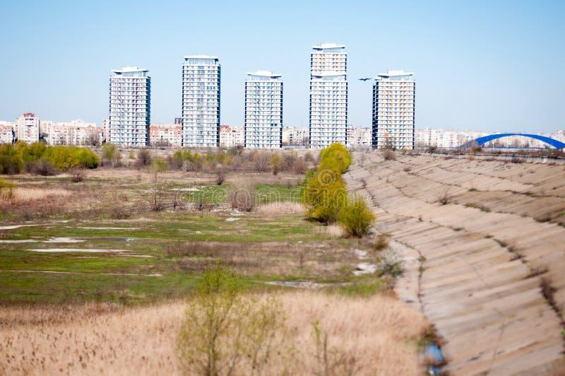 Современные башни квартир стоковое изображение rf