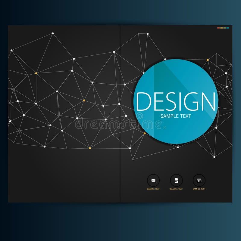 Современные брошюра конспекта вектора, отчет или шаблон дизайна рогульки иллюстрация вектора