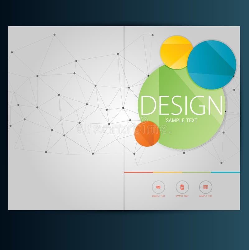 Современные брошюра конспекта вектора, отчет или шаблон дизайна рогульки иллюстрация штока