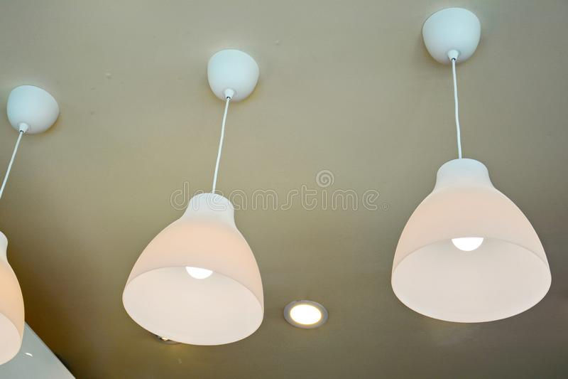 Современные дизайны лампы стоковая фотография