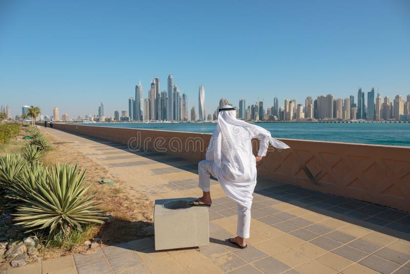 Современные здания в Марине Дубай стоковые фото