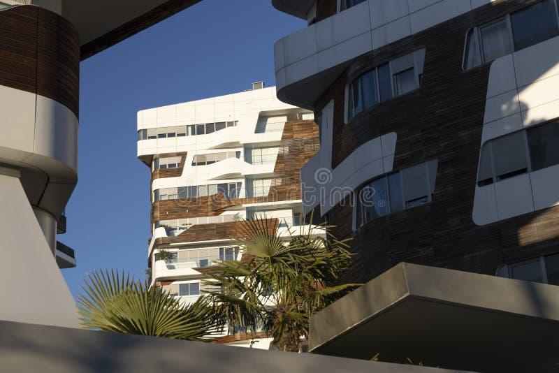 Современные здания на Citylife, милане стоковое изображение rf