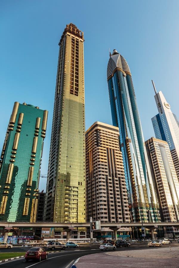 Современные здания, ОАЭ Дубай стоковое фото
