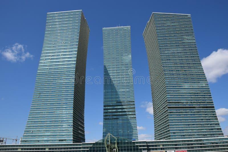 Современные здания в Астане/Казахстане стоковая фотография