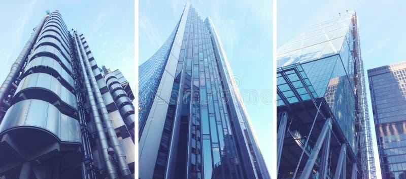 Современные здания в городе Лондона стоковое изображение rf