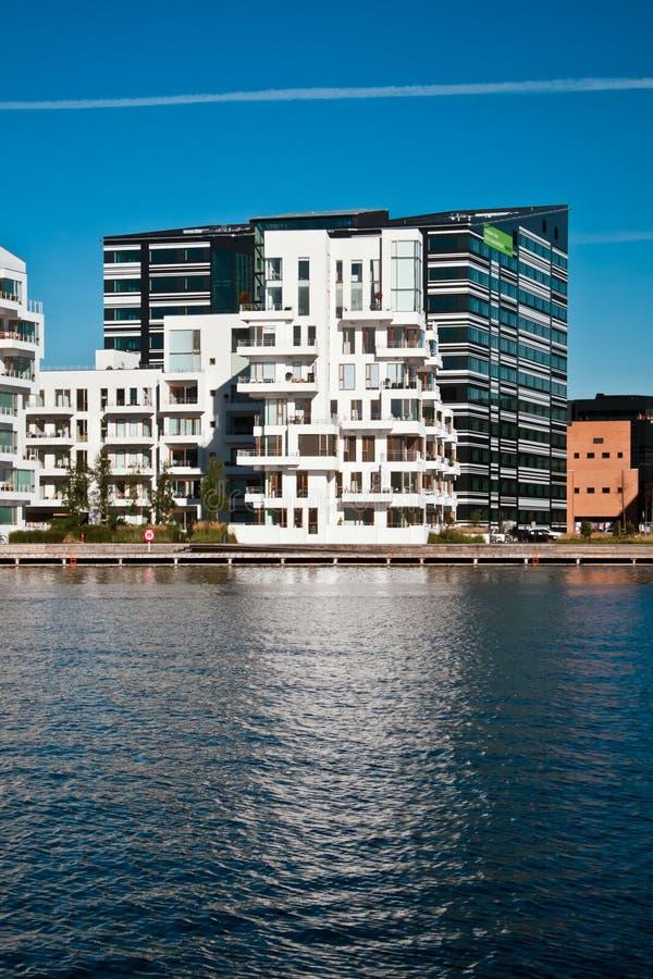 Современные здания в Копенгагене стоковая фотография