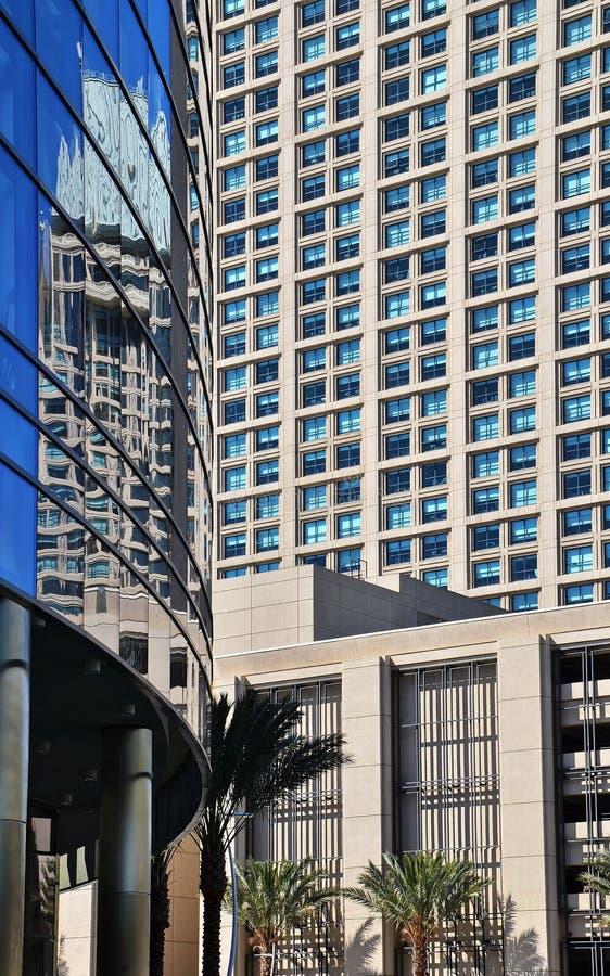 Современные здания Highrise в Сан-Диего стоковые фотографии rf