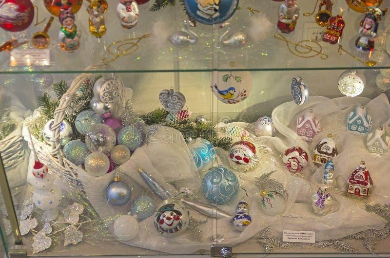 Современные игрушки рождества стоковое фото rf