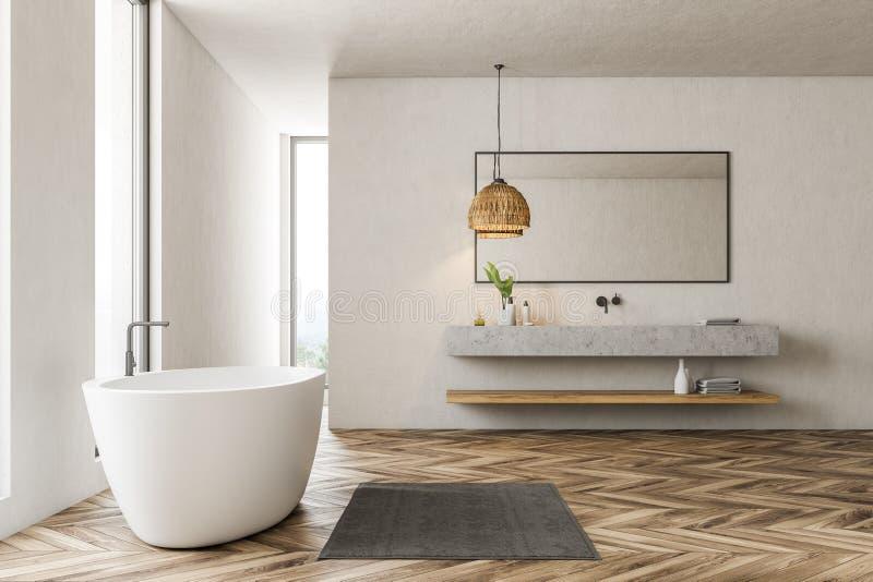 Современные интерьер, ушат и раковина bathroom бесплатная иллюстрация