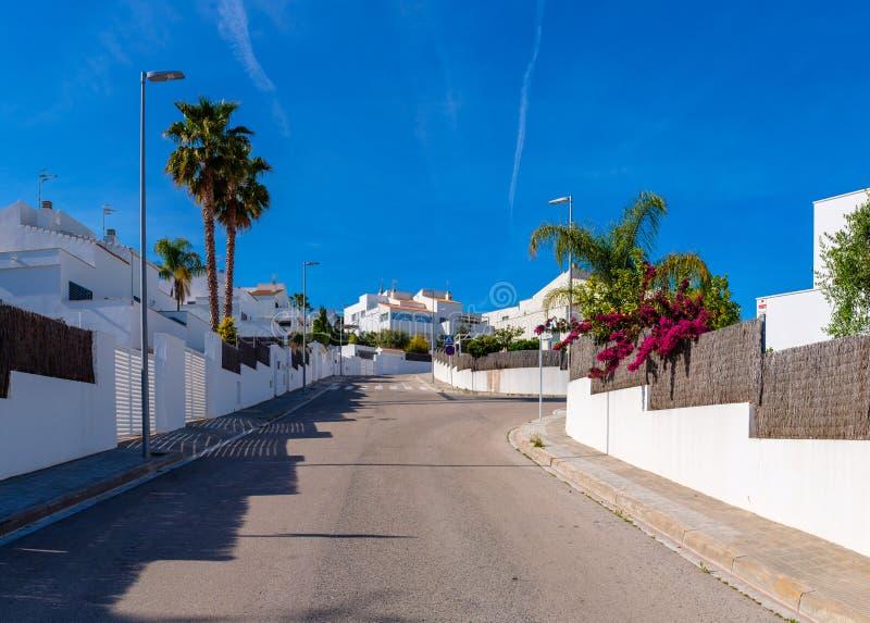 Современные испанские дома в Меле Mas El стоковое изображение