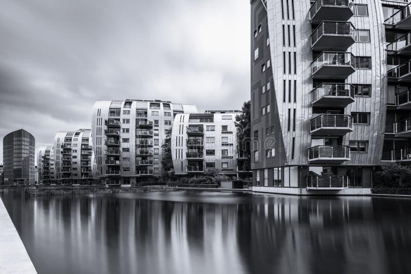 Современные квартиры квартиры в вертепе Bosch Нидерланд стоковое изображение