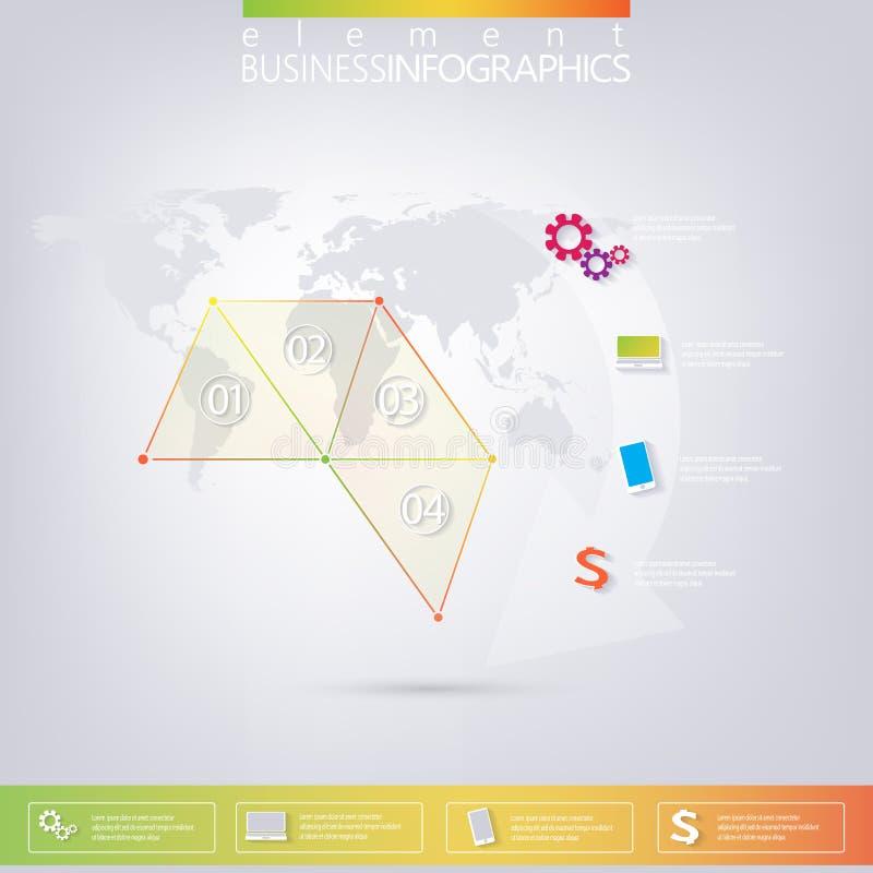 Современные красочные треугольники дизайна infographic с иллюстрация штока