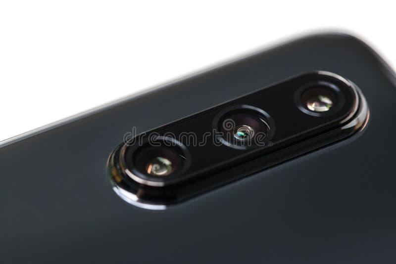 Современные линзы смартфона стоковое изображение