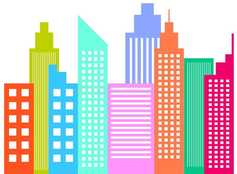 Современные небоскребы горизонта города бесплатная иллюстрация