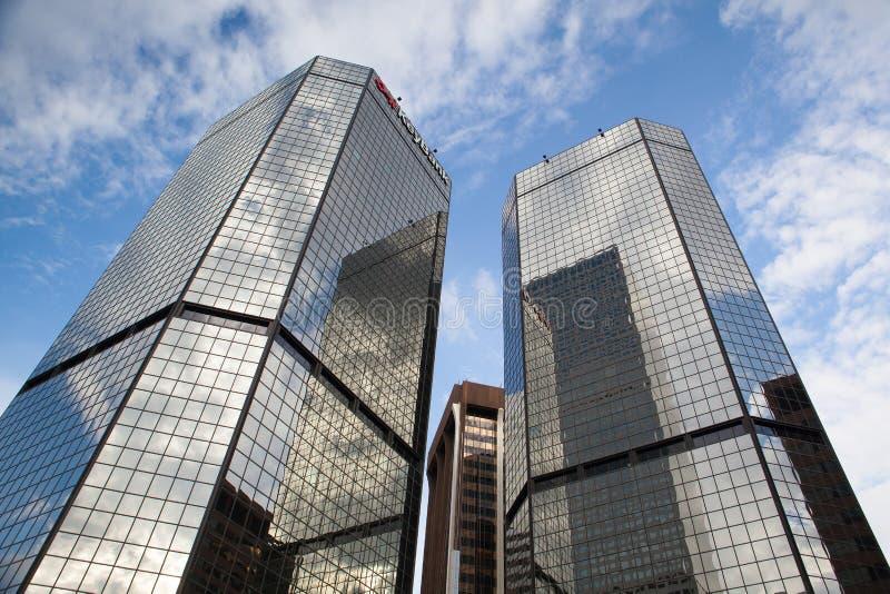 Современные небоскребы KeyBank в Денвере стоковое фото