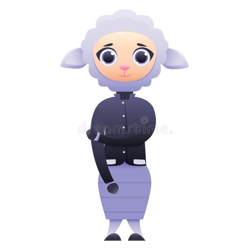 Современные овцы бизнес-леди иллюстрация вектора