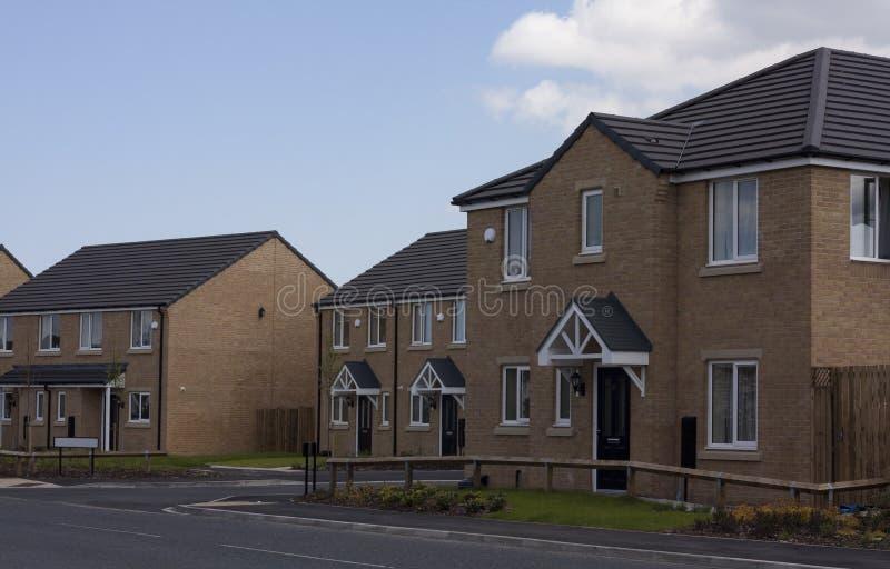 Современные дома в Великобритании стоковое изображение