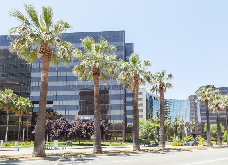 Современные офисные здания в центре Сан-Хосе, Силиконовая долина стоковое фото rf