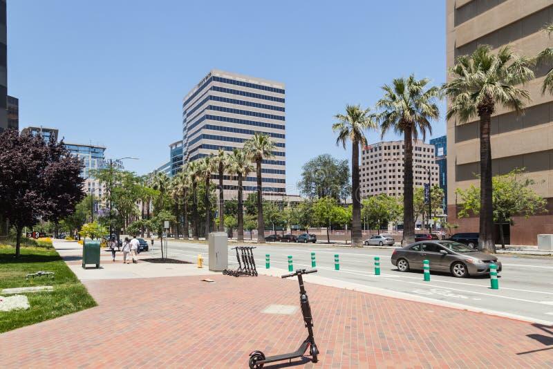 Современные офисные здания в центре Сан-Хосе, Силиконовая долина стоковая фотография