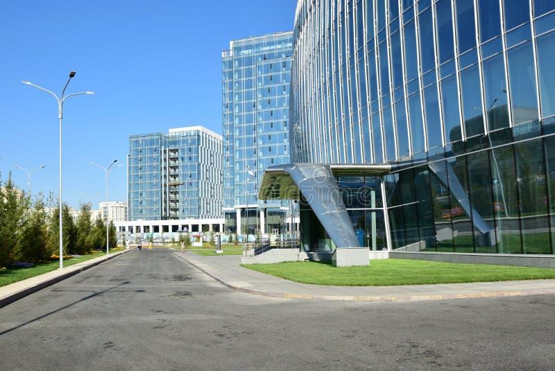Современные офисные здания в Астане стоковые фотографии rf