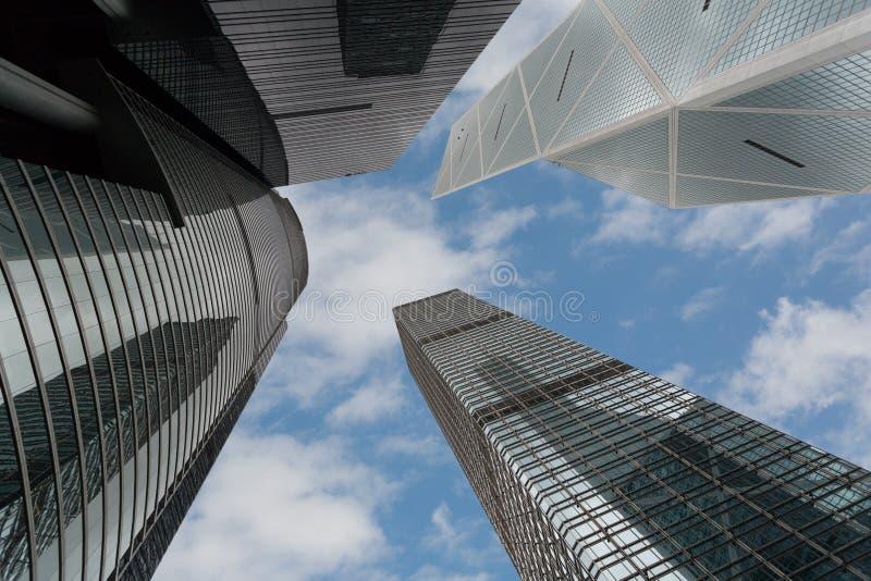 Современные офисные здания в Гонконге стоковые фотографии rf