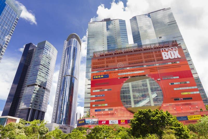 Современные офисные здания и торговый центр в Гонконге стоковые фотографии rf