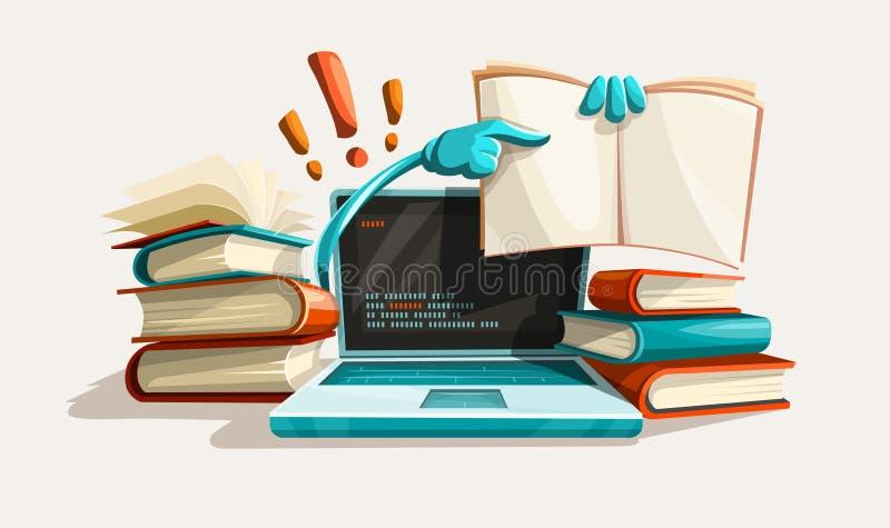 Современные помощь и ответы образования компьютерных технологий иллюстрация штока