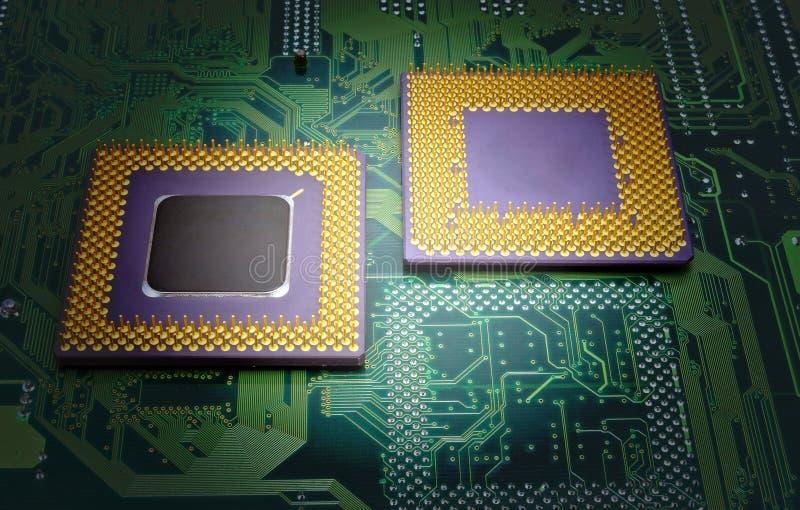 Современные процессоры C.P.U. стоковое фото