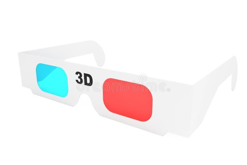 Современные стекла кино 3D иллюстрация штока
