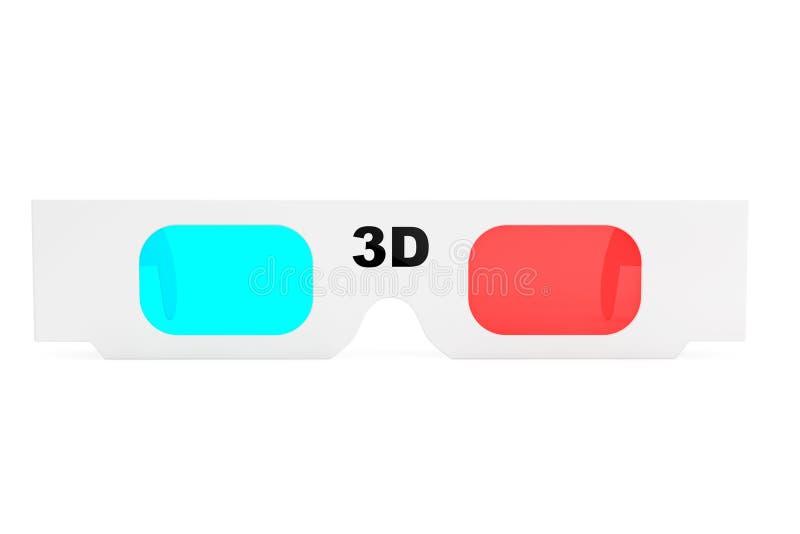 Современные стекла кино 3D иллюстрация вектора