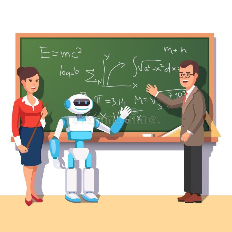 Современные учителя порции робота иллюстрация штока