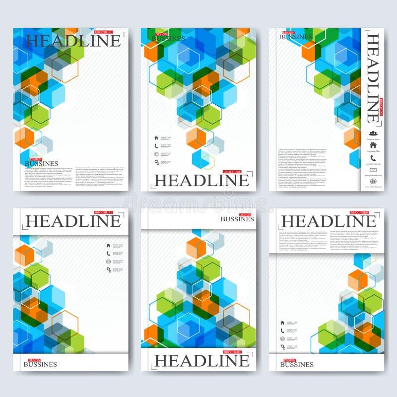 Современные шаблоны вектора для брошюры, рогульки, кассеты крышки или отчета в размере A4 Дело, наука, медицина и иллюстрация вектора