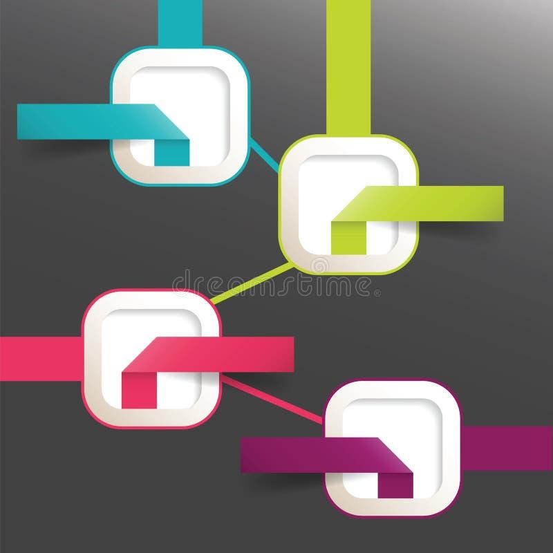 Современные элементы бумаги графика течения вектора infographic бесплатная иллюстрация