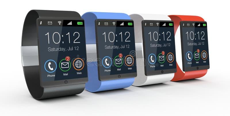 Современные smartwatches бесплатная иллюстрация