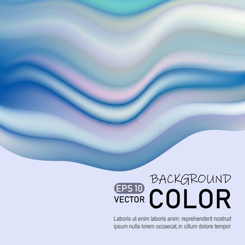 Современный абстрактный дизайн плаката Абстрактная предпосылка с жидкостными пропуская волнами, модный дизайн картины бесплатная иллюстрация