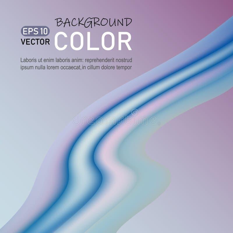 Современный абстрактный дизайн плаката Абстрактная предпосылка с жидкостными пропуская волнами, модный дизайн картины иллюстрация вектора