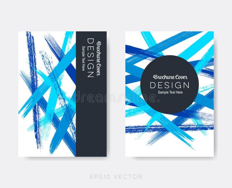 Современный абстрактный дизайн крышки брошюры иллюстрация штока