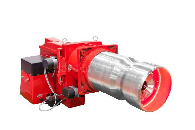 Современный боилер газа высок-техника промышленный омедняет изолированный на белой предпосылке стоковое изображение