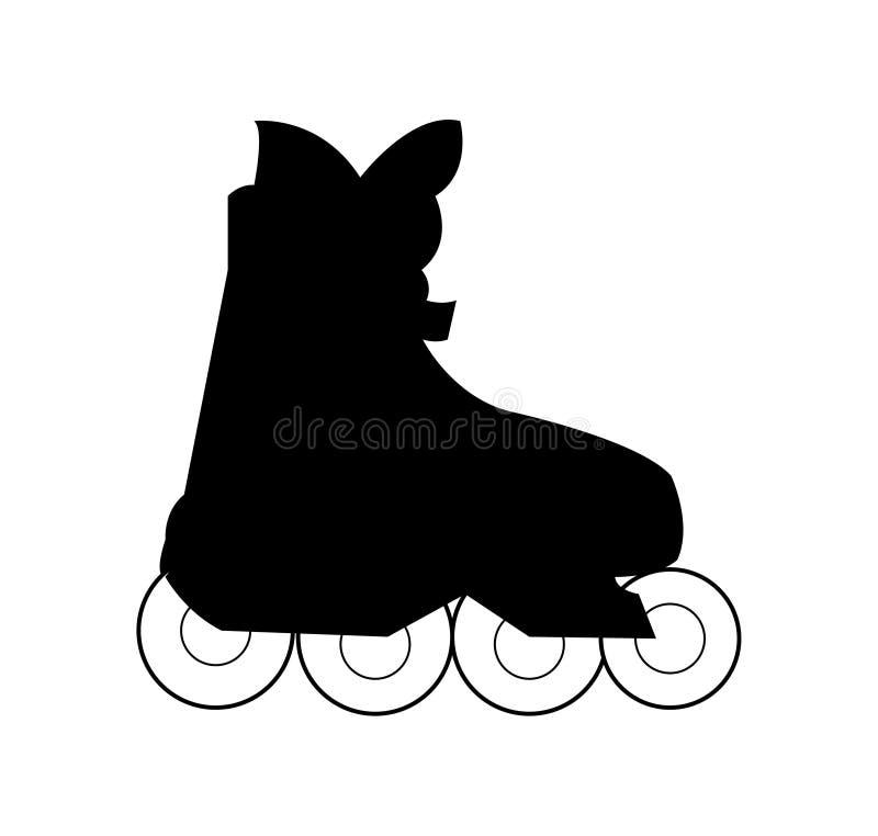 Современный ботинок конька ролика, изолированный на белой предпосылке бесплатная иллюстрация