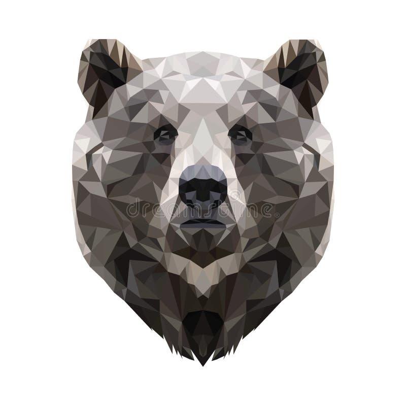 Современный бурый медведь вектора в полигональном стиле стоковые фото