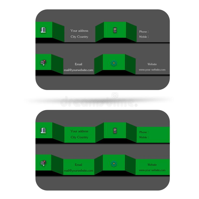 Современный, 2 вводят визитную карточку в моду 3d, помогают вашей компании, вашему enterp иллюстрация штока