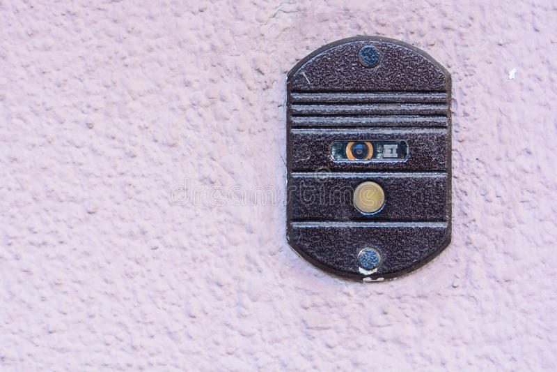Современный дверной звонок стоковая фотография