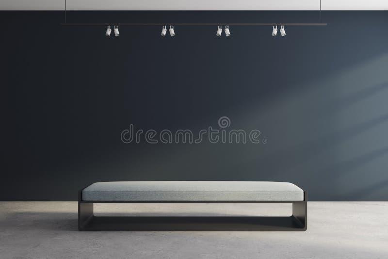 Современный выставочный зал с пустым фронтом плаката бесплатная иллюстрация