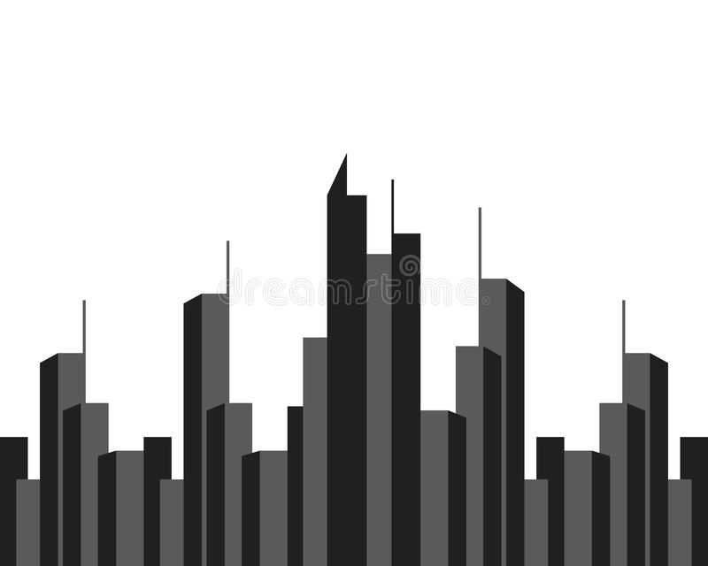 Современный горизонт города силуэт города o бесплатная иллюстрация