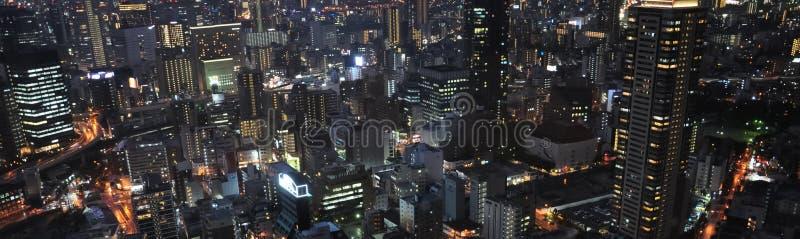 Современный город ночи, ¼ ŒJapan Osakaï стоковая фотография rf