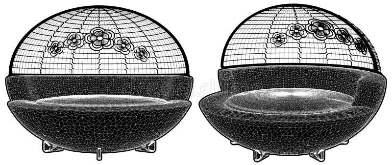 Современный городской вектор иллюстрации софы иллюстрация штока