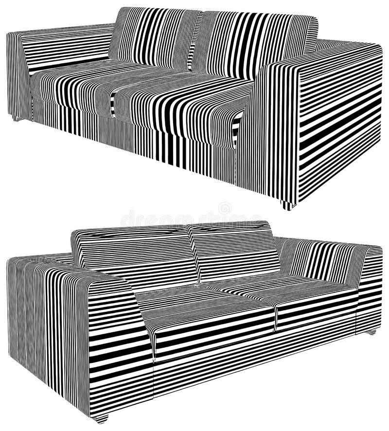 Современный городской вектор иллюстрации софы иллюстрация вектора